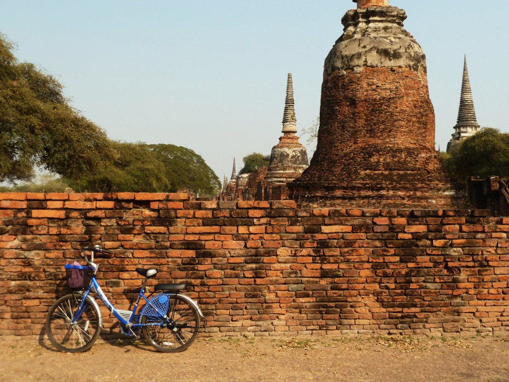 bike in front of ruins